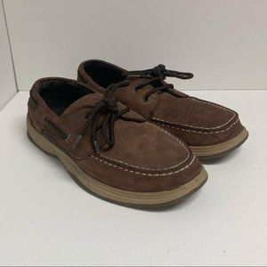 Sperry Top-sider Intrepid Boys Leather Boat Shoes
